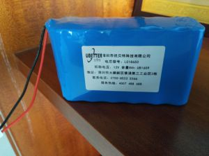 18650 12V 2200mAh Triangle Side Li-ion Battery for Fishing Tools pictures & photos