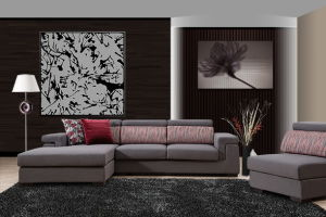 Modern Style Fabric Sofa with Chaise pictures & photos