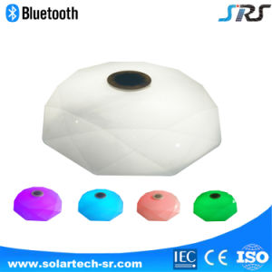 High Quality Wireless Remote LED Ceiling Light 24W Smart Music Ceiling Lamp Bluetooth Speaker Music Light pictures & photos