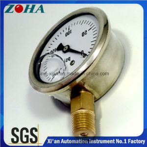 Vacuum Gauge Oil Filled with Cheap Price and High Quality pictures & photos