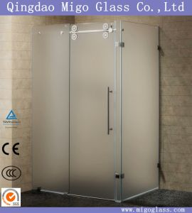 Tempered Acid Etched Glass for Shower Enclosures pictures & photos