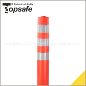 Orange Color PU Warning Post with 3PCS Reflective Tape (S-1403) pictures & photos