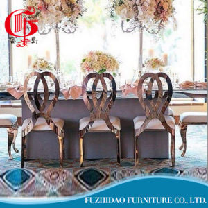 Cheap Price Stackable Wedding Rose Gold Infinity Chair pictures & photos