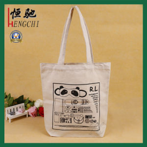 One Color Printing Recycled Strong Cotton Canvas Tote Bag pictures & photos