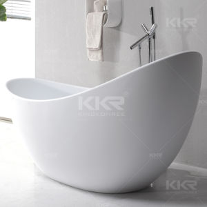 Sanitary Ware Solid Surface Cheap Freestanding Bathtub for Adults pictures & photos