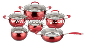 12PCS Apple Shape Cookware Set with Red Painting pictures & photos