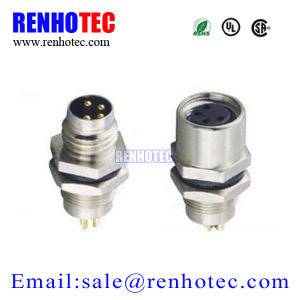 Signal Transmission Application DIP M12 Circular Female Connector Panel Mount pictures & photos