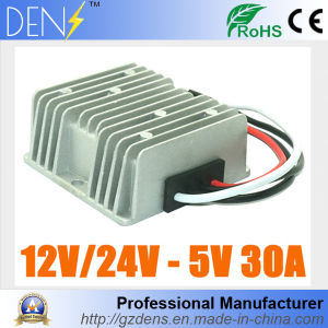 30A Waterproof DC 8-36V 12V 24V to 5V 150W DC Car LED Power Supply Voltage Converter Buck Module pictures & photos
