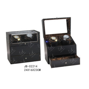 PU Leather Mens Watch Box Double Watch Winder pictures & photos
