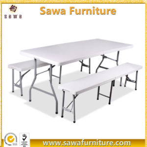 Outdoor Furniture Plastic Folding Recrangle Table for Banquet pictures & photos