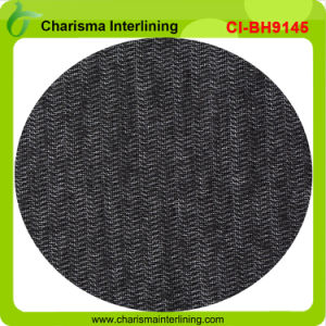 Weft Insert Brushed Knitted Interlining Napping Fusible Interlining for Uniform Bh9145 pictures & photos