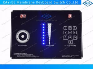 Black Cover Glass Printed Capacitive Membrane Switch with LED Display for Home Use Control pictures & photos