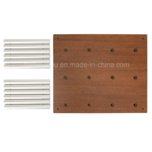 Metal Wall Mounted Storage Aluminum Pegs Bottle Display Wine Rack pictures & photos