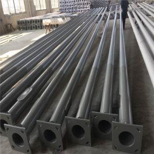 Q235 Galvanized Metal Poles for Lighting, Steel Round Pole Price for 12m Outdoor Pole pictures & photos