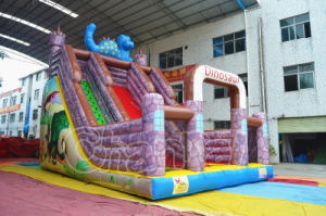 Cheap Price Dinosau Castle Inflatable Dry Slide for Sale (CHSL644) pictures & photos