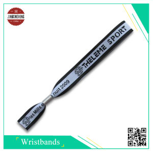Event Promotion Woven Wristband with Silver Alu. Lock pictures & photos