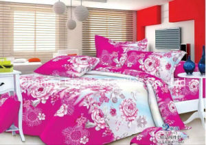 Colorful Flower Pattern Bamboo Microfiber Plain Dyed Cheap Set Bedding Set for Home pictures & photos