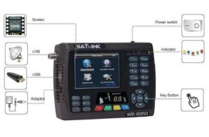 Satellite Finder Satlink Ws 6950 Support FTA Blindscan Channels DVB-S pictures & photos