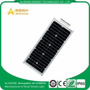 25W Integrated LED Solar Street Light with Microwave Radar Sensor pictures & photos