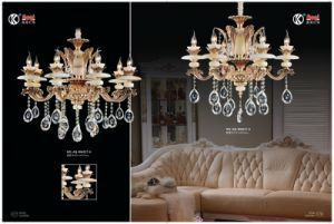 Natural Jade Zinc Alloy Luxury Crystal Chandeliers pictures & photos