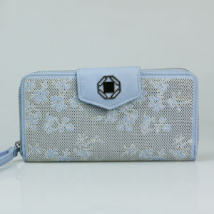 Women Fashion Clutch Big with Wristlet Hollowed-out Leather Travel Wallet pictures & photos