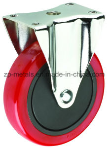 3inch Red PVC Fixed Caster Wheel
