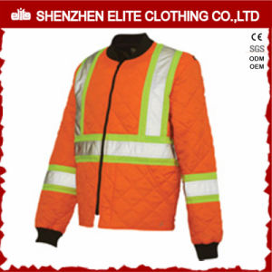 Orange Workwear Safety Reflective Bomber Jacket (ELTSJI-26) pictures & photos