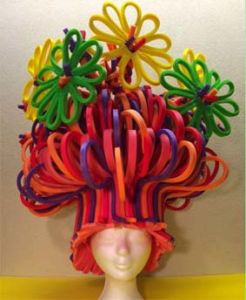 Closed Cell Cross Linked Polyethylene Foam Hair Wig Decorated PE Foam pictures & photos