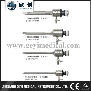 Euprun Cross-Shaped Reusable Trocar for Laparoscopic Surgery pictures & photos