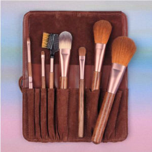 7PCS Goat Mink Hair Cosmetic Makeup Brush with Pouch pictures & photos