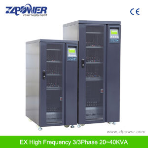 High Frequency Online 3/3phase IGBT Rectifier UPS EX33 20kVA-80kVA pictures & photos