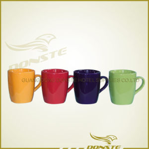 Ce, FDA, LFGB, SGS, Glazing Ceramic Mug with Bark Desig
