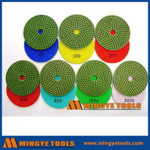 4 Inch Diamond Resin Polishing Pads for Floor pictures & photos