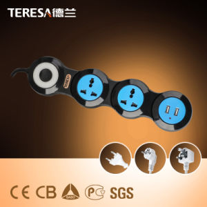 3 Way Manufacturers High Quality Power Extension Socket with USB Ports pictures & photos