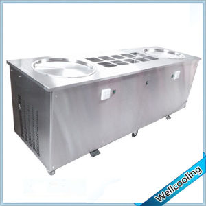 Factory Price Icm-980A Double Square Pan Fried Ice Cream Machine with 12 pictures & photos