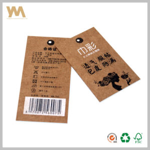 Brown Kraft Paper Packaging Labels for Clothes pictures & photos