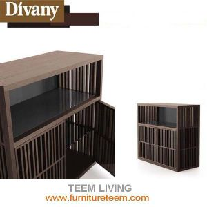 Soild Wood Veneer Dining Room Cabinet pictures & photos