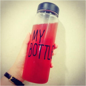 My Bottle Big Mouth Simple Glass Drinking Water Bottle (DC-QDG9-500) pictures & photos