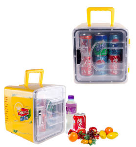 Transparent Door Mini Fridge 8 Liter DC12V, AC100-240V in Both Cooling and Warming Function pictures & photos