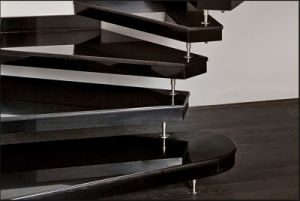 High Quality Absolute Black Granite Step Ladder, Spiral Staircase pictures & photos
