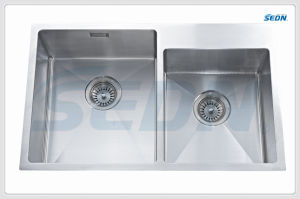 Handmade Double Bowl Stainless Steel Sinks (SB2009L) pictures & photos