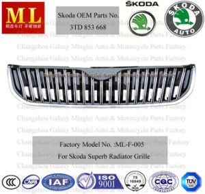 Chromed Auto Grille for Skoda Superb From 2008 (3T0 853 668 A) pictures & photos