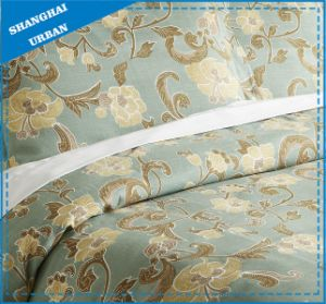 Vintage Rose Printed Polyester Duvet Cover Set pictures & photos