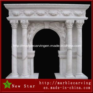 White Stone Marble Door Surround Window Mentel pictures & photos