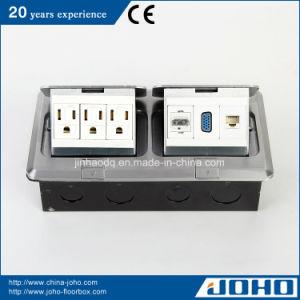China Aluminum 2 Gang Pop Up Socket Box With Us Socket