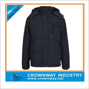 Mens Casual Quilted Black Jackets with Buttoned Placket pictures & photos