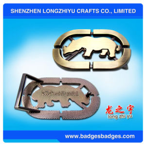 High Quality Metal Custom Belt Buckles Manufacturers, Logo Name Cheap Custom Belt pictures & photos