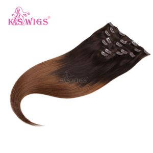 100% Remy Brazilian Clip Hair Extension pictures & photos