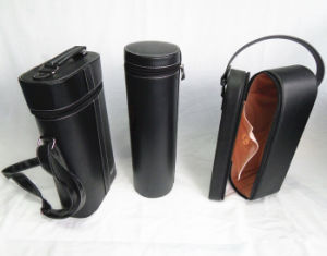 Glossy Black Leather Wine Holding Cases pictures & photos