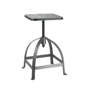 Outdoor Dining Furniture Swivel Wooden Metal Industrial Bar Stools (FS-Scew14023-2) pictures & photos